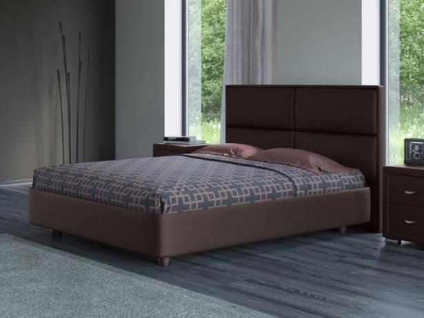 Кожаная кровать венге Rocky 2