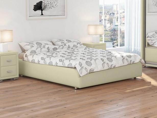 Кожаная кровать Veda 1 Base кремовый