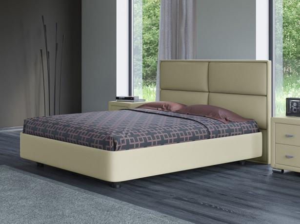 Купить кожаную кровать Rocky 2 кремовая