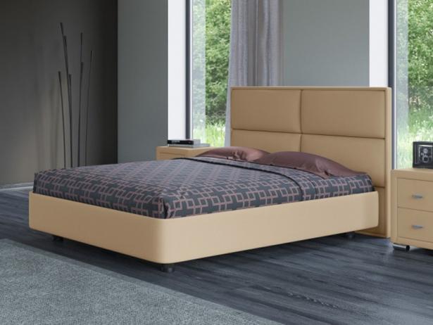 Кровать двуспальная Rocky 2 бежевая