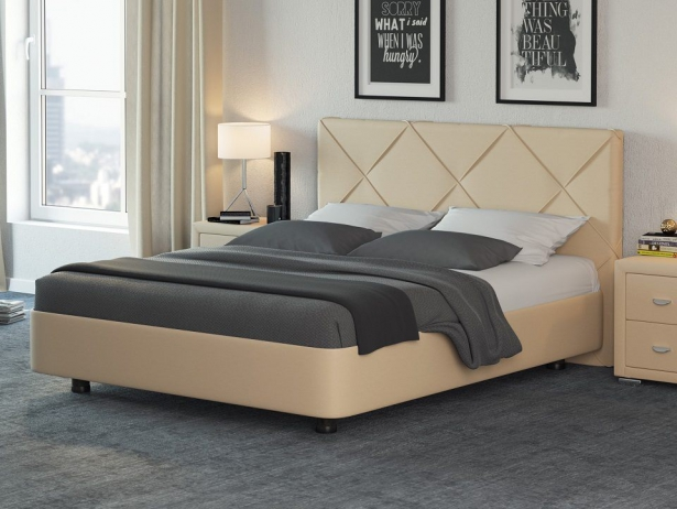 Купить кровать Rocky 1 кремовая